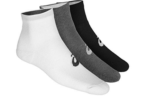 ASICS Herren 3PPK Quarter Socken, Schwarz (Black 155205-0701), 45/46 (Herstellergröße: 43-46)