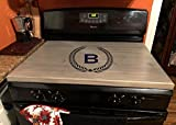 latinos r us Stove Top Cover, Custom Wooden Stove Cover Personalized (Gray)