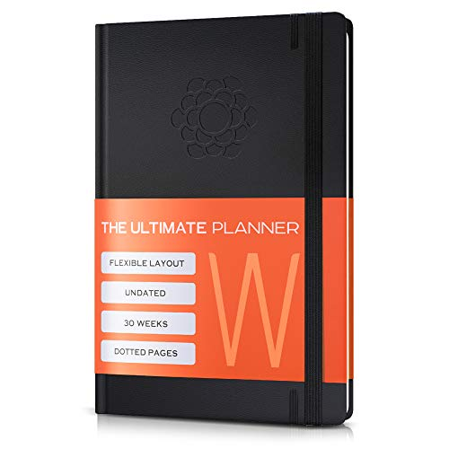 Ultimate 2019 Planner - Daily & Weekly Agenda Planner, Organizer, Monthly Calendar - Improve Productivity, Organization - Work & Academic Goal Journal - Undated Day - 30 Week Planner