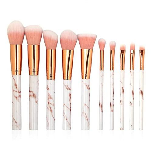 Ensemble de pinceaux de maquillage multifonctions 10/4, ombre à paupières, fond de teint, crayon à lèvres, eye-liner, fard à joues, outil de pinceau de maquillage en marbre - 04 10Pcs