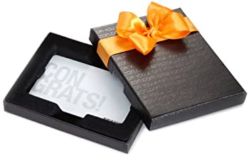Amazon.com $500 Gift Card in a Black Gift Box  Congrats White Card Design