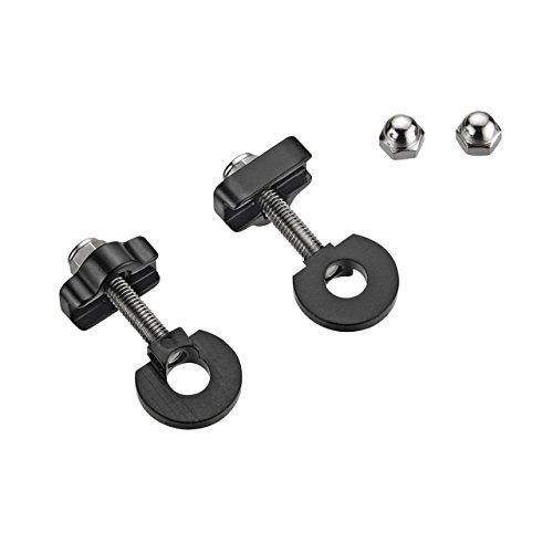 2pcs aleación BMX/Juicios remolques Cadena Tensor tensores 10mm Ejes