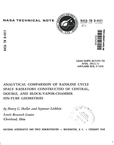Analytical comparison of Rankine cycle space radiators constructed of central, double, and…