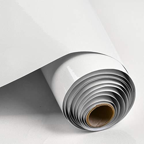 THETHO Selbstklebende Klebefolie Möbelfolie Folie Oberflächenschutz Vinylfolie für Möbel Kleiderschrank 40cm x 300cm Abdeckungsfolie (weiß) + Schaber