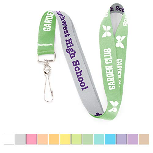 Buttonsmith Custom Solid Lanyard - Quantity 1 - Choose Background Color, Font Color, Font Style and Icon - Personalize with Your Name or Text - Made in The USA