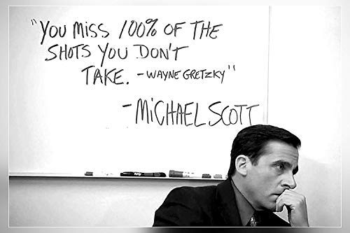 "FAIR DEAL POSTERS Michael Scott's Motivational Quote 12""x18"" Poster"