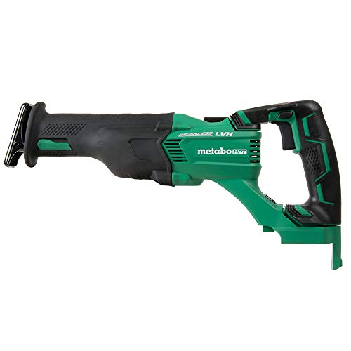 Metabo HPT Cordless Reciprocating Saw | Tool Only | No Battery | 3-Mode Selector W/Auto Mode | Tool-Less Blade Changing System | Large Rafter Hook | Lifetime Tool Warranty | Brushless | CR18DBLQ4