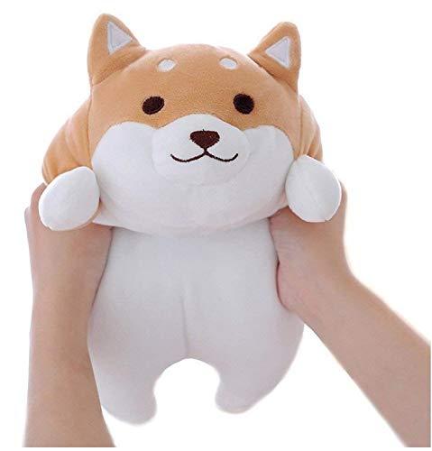 Diligencer Weiche Große Kawaii Corgi Kissen Für Amuse Stofftier Riesen Spielzeug Puppe Braun Rundes Auge 13,78 Zoll (35 cm)