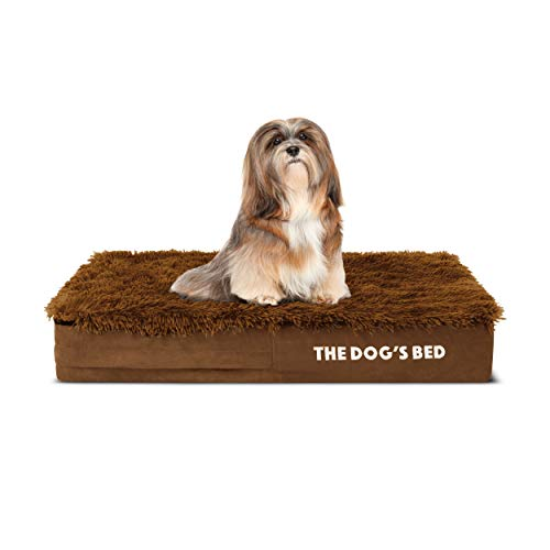 The Dog's Bed Orthopädisches Hundebett, klein, Teddybär, Kunstfell, 71 x 48 cm, wasserdicht
