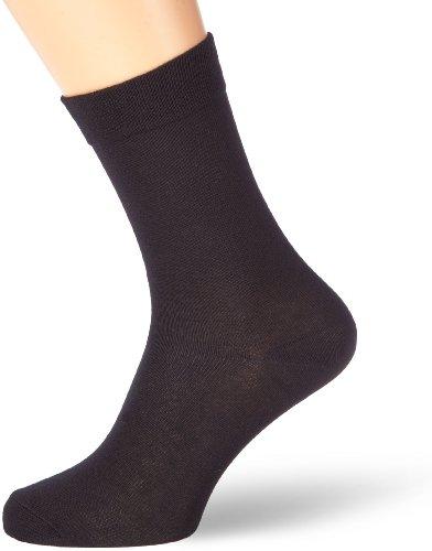 Nur Der Herren Socken 485501/Ohne Gummi 3er Pack, Gr. 43-46, schwarz (schwarz 940)
