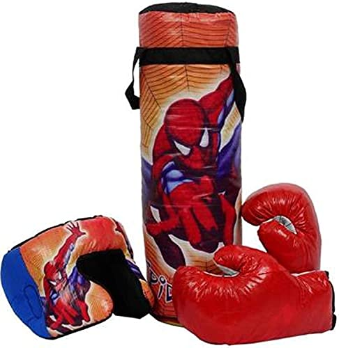 Minor Spiderman Boxing Punching Bag Kit with 2 Gloves & 1 Head Guard for Kids Boxing Boxing Kit n4 -N37