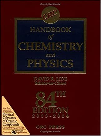 CRC Press Handbook of Chemistry & Physics, Special Student Edition by David R. Lide (1995-03-09)