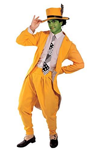ORION COSTUMES Disfraz de Traje de Superhroe Manaco Amarillo de Pelcula para Halloween para Hombres