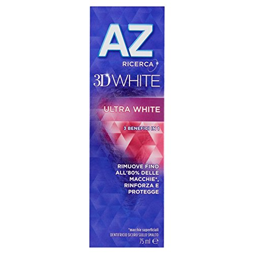 AZ 3D White Ultra White Dentifricio - 6 pezzi da...