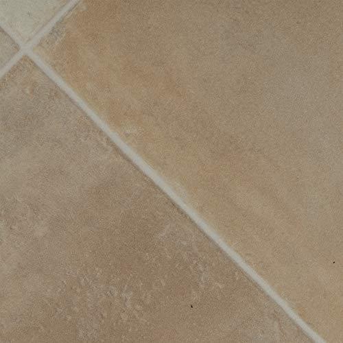 BODENMEISTER BM70620 Vinylboden PVC Bodenbelag Meterware 200, 300, 400 cm breit, Fliesenoptik diagonal hell-beige