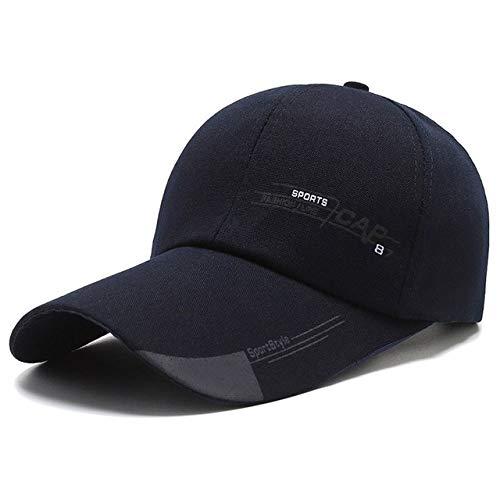 Sombreros para el Sol al Aire Libre de Verano Gorra de Pesca de Golf Impermeable de Secado rápido Gorras debéisbol Unisex Ajustables-Navy Baseball Cap