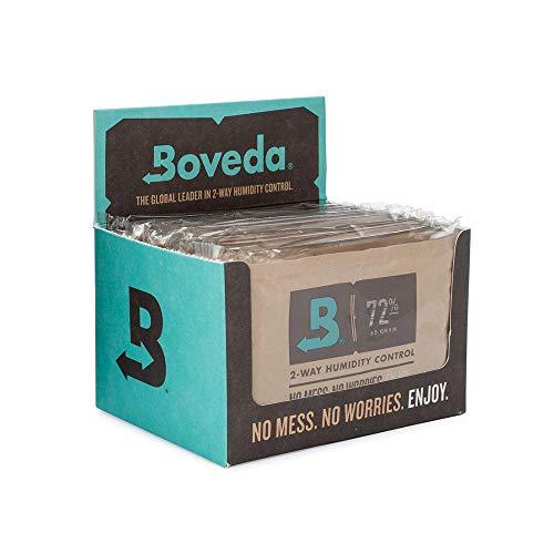 Boveda für Zigarren/Tabak | 2-Wege-Feuchtigkeitsregulierung mit 72 {f7330a7966ff05c0da4b811048a00331af0735d33ae0378907f39b1fb7e4f2fd} relativer Feuchtigkeit | Größe 60 zur Verwendung für jeweils 25 Zigarren im Humidor | patentierte Technologie für Zigarren-Humidore | Verkaufskarton mit 12 Stück
