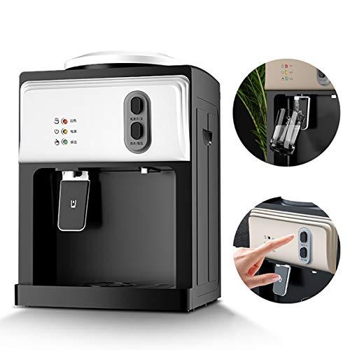 GAYBJ Elektrische Wasserspender Mini sofort heißen/Kaltwasserspender Wasserkühler Dispenser Wasserspender Desktop-Wasser-Zufuhr für Küche, Haus, Offic,Weiß,Heat and Cold