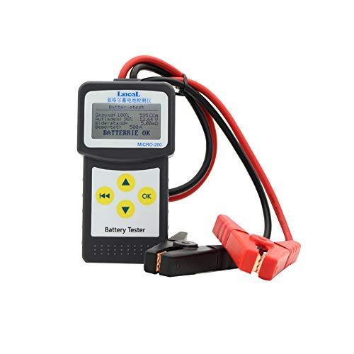 Comprobador de batería de coche de 12V, analizador de batería de vehículo automático 100-2000 CCA analizador detecta directamente el estado de la batería de comprobación de batería de celdas dañadas