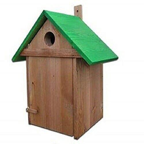 QLS vogelhuizen, vogelhuisje, vogelnest, van hout, afmetingen 32 x 40 x 22 cm, 32 x 40 x 22 cm, groen