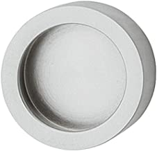 Gedotec Glazen deurgreep om te lijmen meubelgreep chroom mat schelpgreep rond voor glazen deuren - H3705 | metalen handgre...