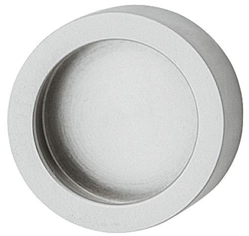 Gedotec H3705 Glazen deurgreep om te plakken, meubelgreep, chroom, mat schelphandvat rond, voor glazen deuren, metalen handgreepuitsparing om op te plakken, handvat Ø: 35 mm, 1 stuks, design schuifdeurschelp voor kamerdeuren