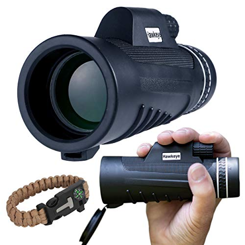 Hawkeye Monocular Telescope for Smartphone |10 x 42 High Definition BAK4 Prism Water Proof | for Bird Watching Hunting Camping Travelling Sports | Great Night Vision Hand Held Telescope
