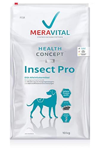 MERAVITAL Insect Pro Hundefutter trocken 10 kg für Hunde, mit verringerten Allergiepotential und Rezeptur aus Insektenprotein