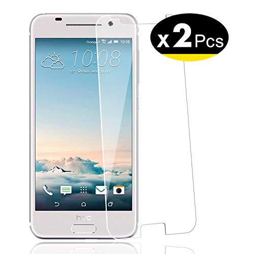 NEW'C PanzerglasFolie Schutzfolie für HTC One A9, [2 Stück] Frei von Kratzern Fingabdrücken & Öl, 9H Festigkeit, HD Bildschirmschutzfolie, 0.33mm Ultra-klar, Bildschirmschutzfolie