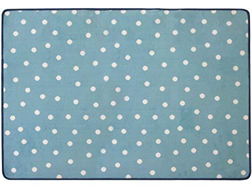 Primaflor - Ideen in Textil Tapis pour Enfant Bleu Punto Motif Points, Tapis Chambre d´Enfant Pastel Doux - Tapis Bébé, Quatre Couleurs et Deux Tailles   1,00 x 1,50m