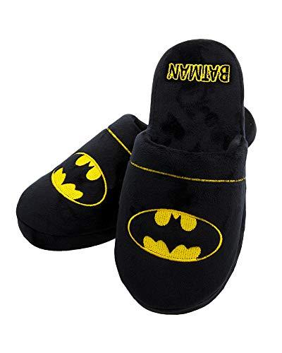 Batman DC Comics Mens Slipper Hausschuhe Jungen Logo Größen 38-41 EU