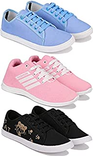 Shoefly Women's (5052-5002-5054) Multicolor Casual Sports Running (Set of 3 Pair)