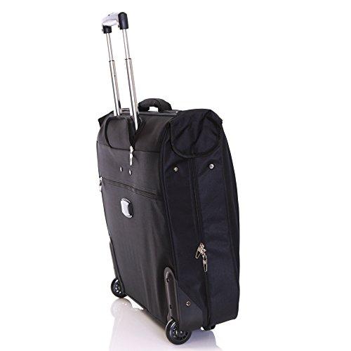 Karabar Stanley 3 Suit Wheeled Garment Carrier - Black