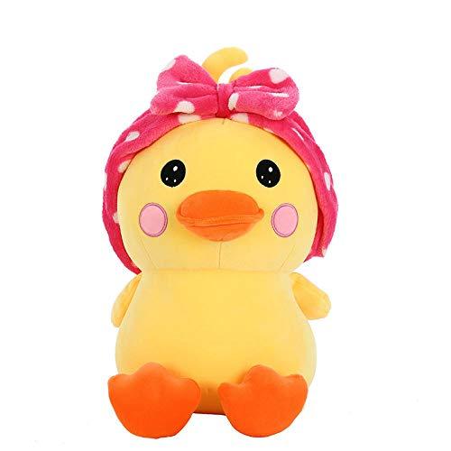 Pluche Schattige Strik Schattige Eend Knuffel Duck Rag Doll-Pink_50cm