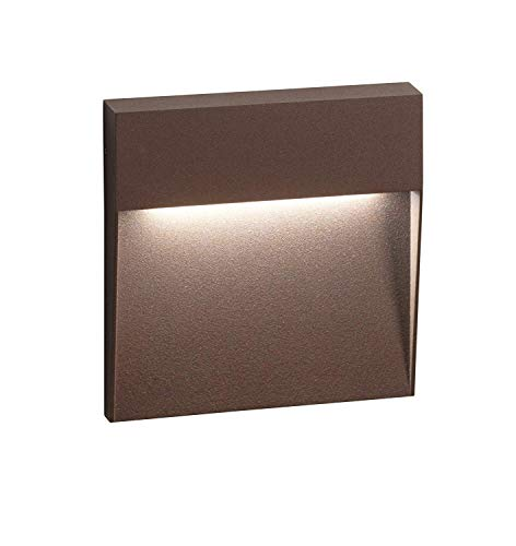 segnapasso led per esterno 6w 3000k ip54 bianco da parete quadrato senza incasso certificazione elettrica italiana