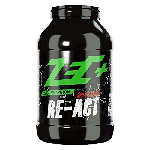 ZEC+ Re-Act Shake   All-in-one Post Workout Formel mit essentiellen Aminosäuren   Creatin-AKG   Glutamin-AKG   Ergogenics   Vitaminen und Mineralien   Spicy Cherry 1800g
