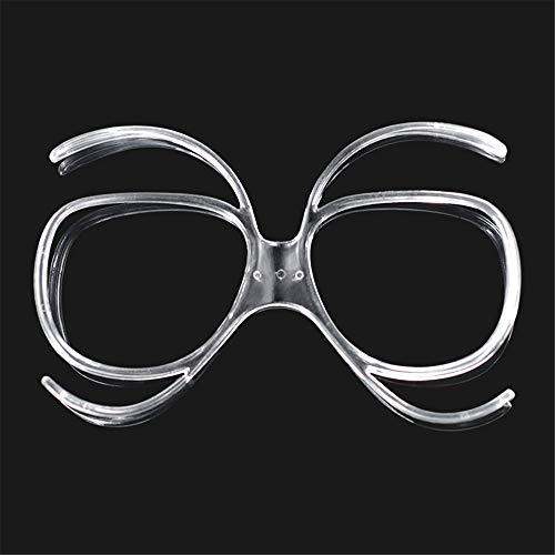 WXH Adaptador de Marco de miopía de Gafas de esquí de 2 Piezas, Marco de Lentes de esquí Marco de Gafas en línea, Marco en línea incrustado, Gafas de Sol Snow Snowboard Protector