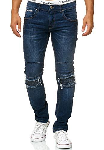 Indicode Heren Nevada Jeans Gemaakt Van Katoen Met Stretchgehalte | Heren Jeans Destroyed Look Denim Stretch Jeans Broek Heren Broek Regular Fit Straight Men Pants Voor Mannen