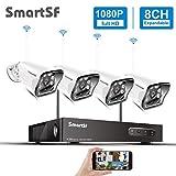 8CH NVR 1080P Kit de Camara vigilancia WiFi Exterior, vigilancia CCTV con 2.0MP IP Cameras, Visión Nocturna, IP66 Impermeable, Movimiento...