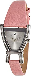 Fastrack Fits and Forms Women's Grey Dial Leather Band Watch - T6095SL02