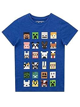 Minecraft Boys Short Sleeved T-Shirt 7-8 Years Blue
