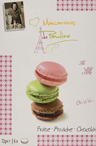 Macarons de Pauline Fraise - Pistache - Chocolat, 10er Pack (10 x 100 g)
