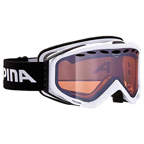 ALPINA Turbo HM Skibrille White Hybrid Mirror Orange