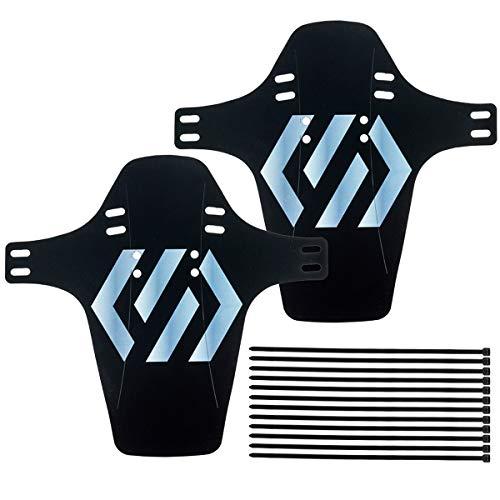 CNC 2 Piezas Guardabarros MTB, Guardabarros Bicicleta Montaña, Mudguard Bici Delantero y Trasero Compatibles 20