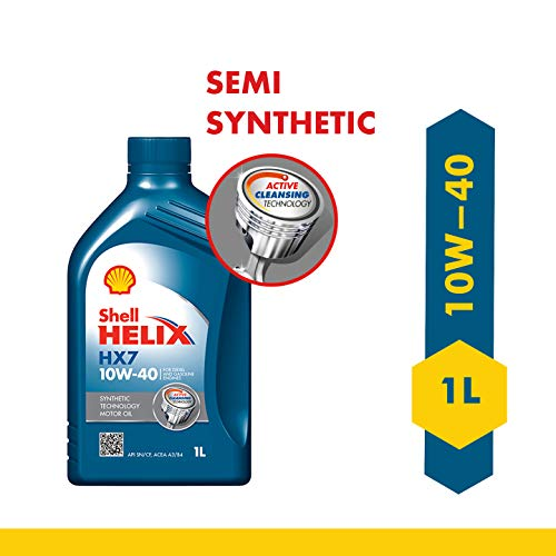 Shell Helix HX7 550031260 10W-40 API SN Synthetic Technology Car Engine Oil (1 L)