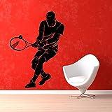 Tattoos-zuhsn Tennis Aufkleber Sport Aufkleber Wand StickerPosters Vinyl Wandtattoos Wandaufkleber Dekor Wandbild Tennis AufkleberCM 76x51cm