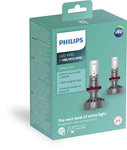 Philips 11366ULWX2 LED faros delanteros (H8/H11/H16), 6.200K, Set de 2