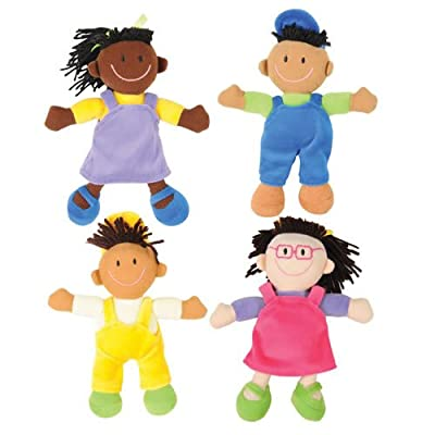 Pretend and Play Ethnic Soft Dolls (Set of 4)