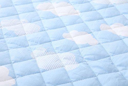 エムールすべり止め付き『よちよちプレイマット』(L)200×200cm雲柄ブルー