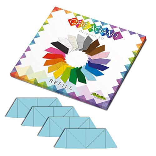 CreativaMente - Tarjetas precortadas y con guías de Plegado para Hacer Origami 3D, Color Azul, 862